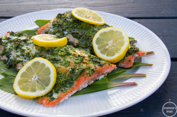 Episode 3 (Part 2): Baked Sockeye Salmon with Wild Ramp Pesto