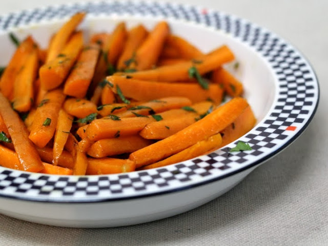 Glazed Carrots with Mint and Preserved Lemon
