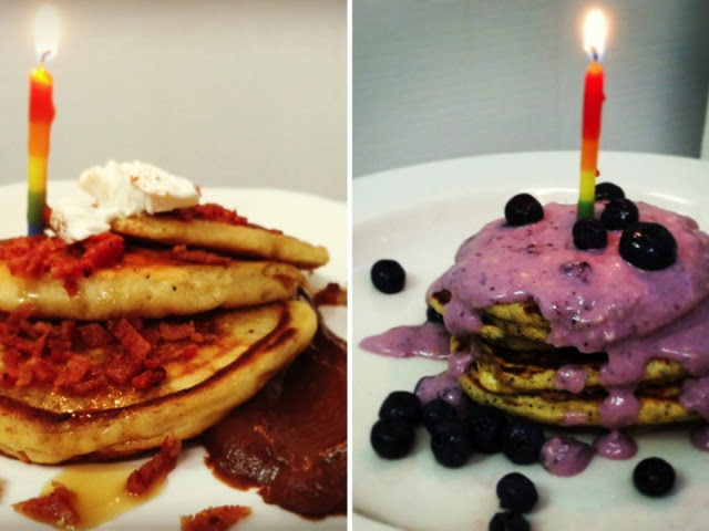 Lemon Poppy Seed and Chocolate Espresso Birthday panCAKES!