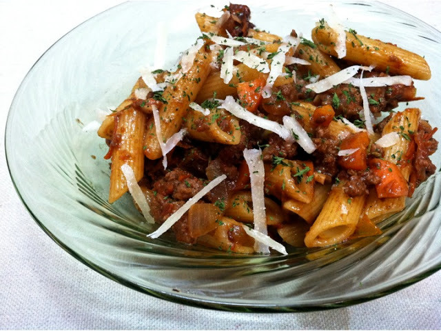 Sun-Dried Tomato Ragu over Penne