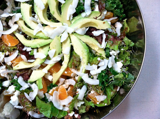 Avocado, Clementine and Coconut Salad