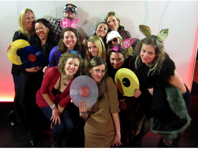 The pack of bunnies, spinning with the DJ at one Aspen's best nightclubs, The Regal.