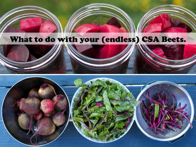 What to do with CSA Beets