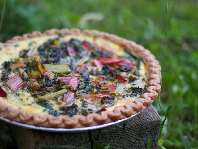 Chard, Mint & Smoked Cheddar Quiche