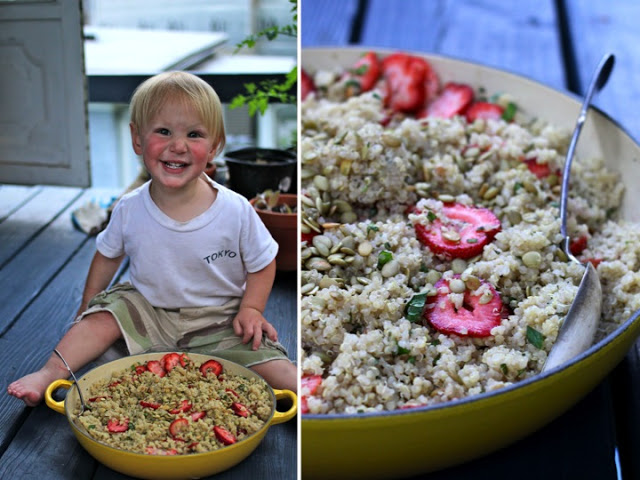 Strawberry, Mint & Quinoa Salad at the Ithaca Parade