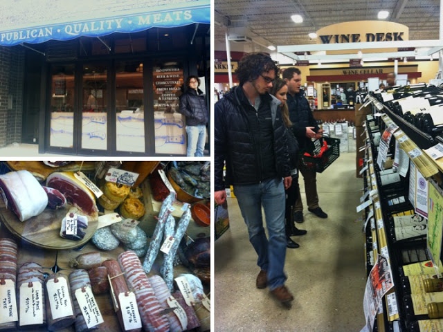 Bobby, Laura and Mike scope the aisles at Binny's