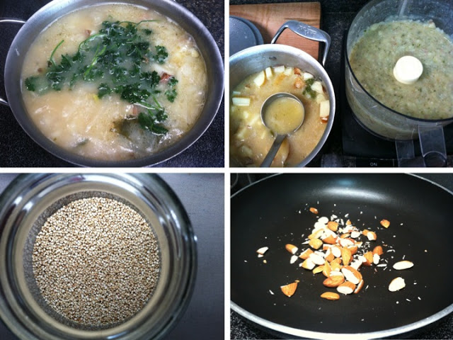 I love adding the texture and flavor of toasted and chopped nuts to soup!