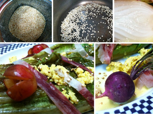 Don't hesitate to include other grilled goodies, like freshly harvested radishes!