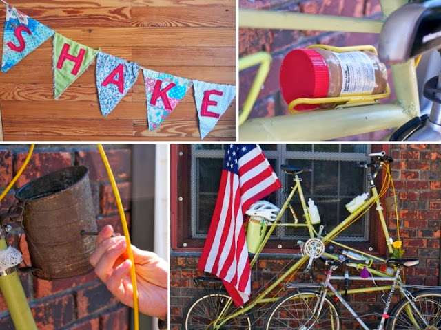 We loved this bike, parked outside Shake Sugary, complete with musical coffee grinder and a peanut butter holder.