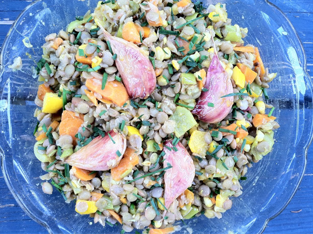 Lentil Salad with Curry-Roasted Vegetables