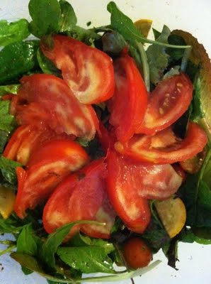 Summer Tomato and Arugula Salad
