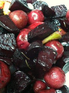 Roasted Baby Beets and Potatoes