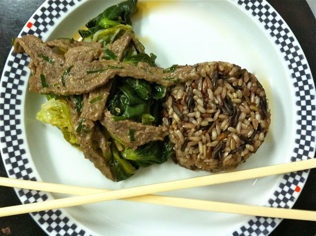 Miso Steak with Asian Greens