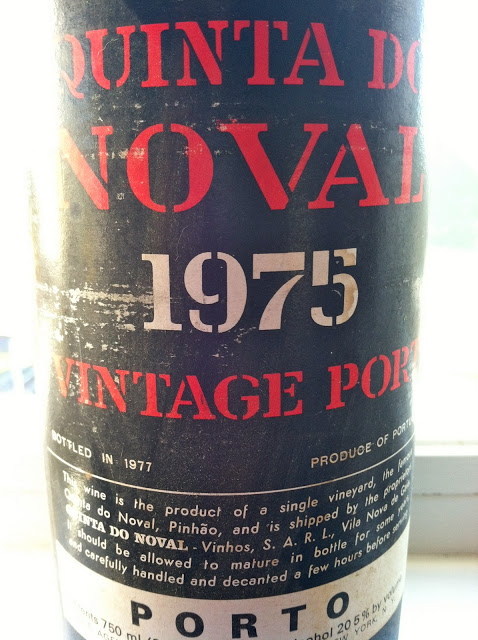 Among the fine bottles opened from my mom's collection, was a vintage port to close the meal (originally $15 from a wine shop in Denver). Nine years older than me! Exquisite.