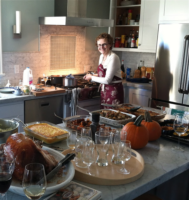 Mamma, the master chef. This year we each contributed a dish, or course, with Mamma holding the reigns!