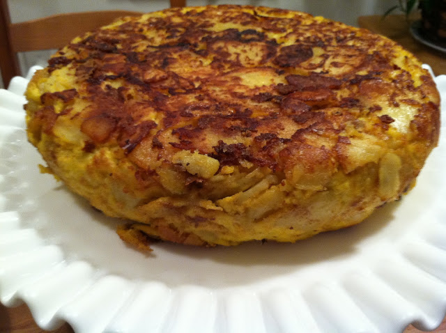 Spanish tortilla. My Catalan friends would be more than proud.
