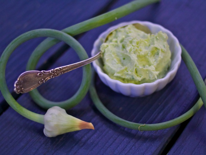 Garlic Scape & Lemon Butter (and 6 More Ways to use Garlic Scapes)