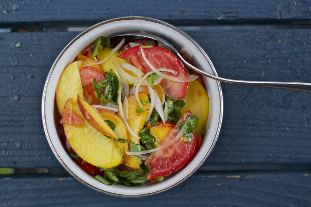 Tomato, Peach And Basil Salad Recipes — Dishmaps