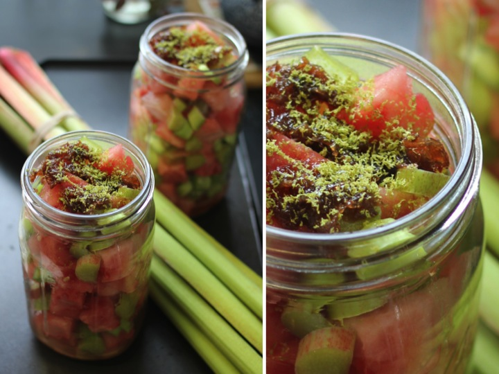 Rhubarb & Watermelon Fruit Salad