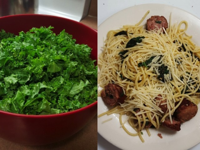 kale and andouille sausage pasta