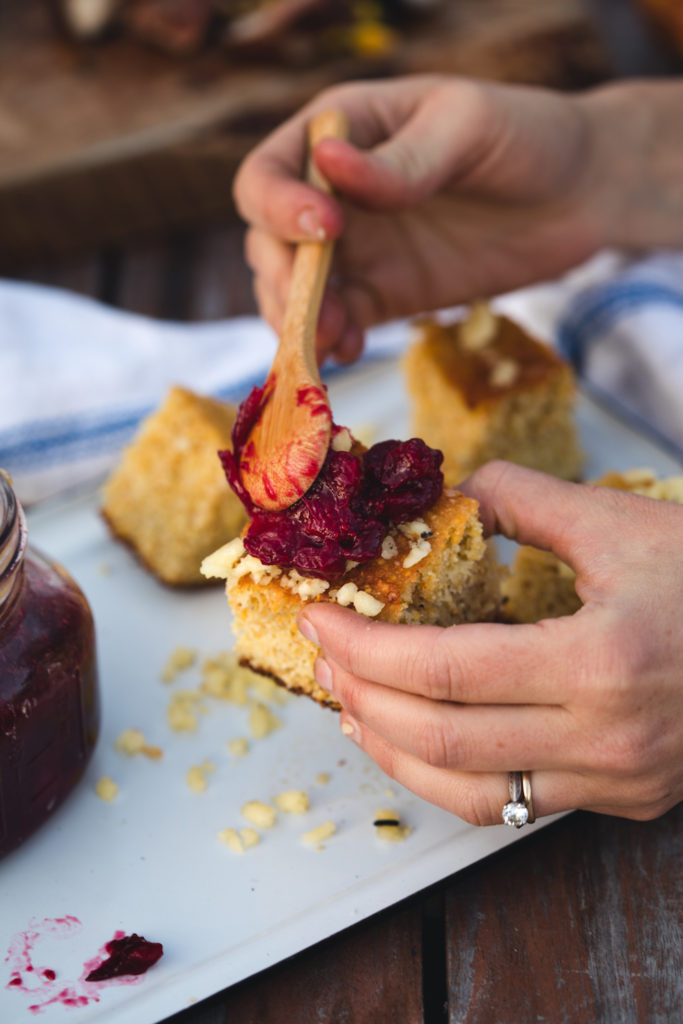 Cranberry Orange & Maple Jam by Emma Frisch; a twist on the usual cranberry sauce and a perfect recipe for Thanksgiving dinner