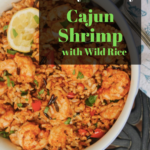 Family Friendly Cajun Shrimp with Wild Rice in a bowl
