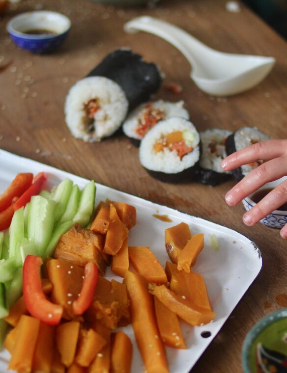 Kid-Friendly Sushi Rolls (Video)