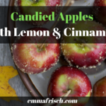 candied apples with lemon and cinnamon