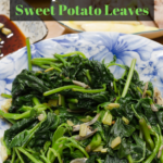 maple sautéed sweet potato leaves recipe